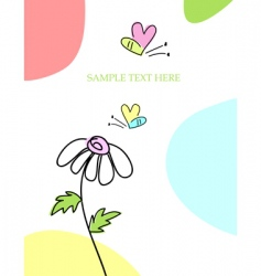 greeting card with bee vector image