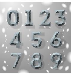 Trendy grey fractal geometric numbers vector image