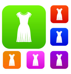 woman dress set collection vector image