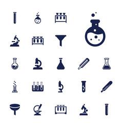 22 laboratory icons vector