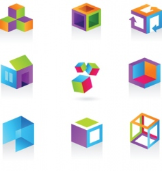 3D icons and logos vector image
