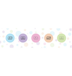 5 paying icons vector