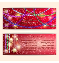 Abstract red Christmas and New Year Greeting or vector
