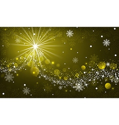 Abstract winter glowing background with snowflakes vector image