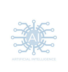 Artificial intelligence ai technology icon vector