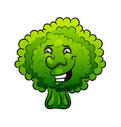 artistic hand drawn broccoli vector image