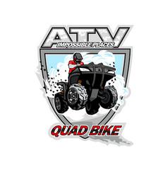 atv quad bike impossible places vector image
