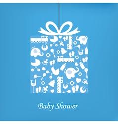 Baboy birth card vector