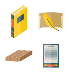 Books icons document magazine publication vector