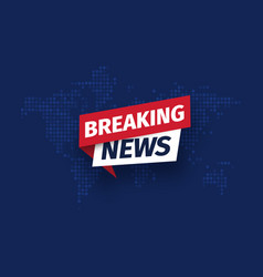 breaking news isolated icon sign main vector image