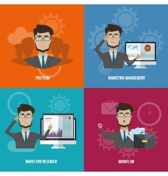 Business Manager Icon Set vector