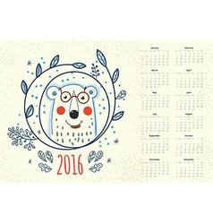 Calendar 12 months vector