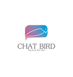 chat bird logo vector image