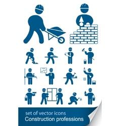 Construction professions vector