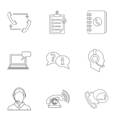 Consultation icons set outline style vector