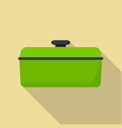 cook saucepan icon flat style vector image