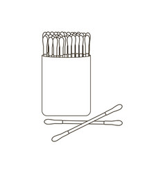 Cotton buds for adults vector