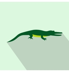Crocodile icon flat style vector image