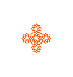 Cross icon cross unusual shape innovative vector