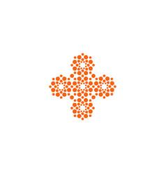 Cross icon unusual shape innovative vector