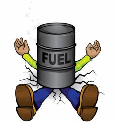 Crushed by fuel prices vector