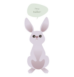 cute rabbit isolated on white background and vector image