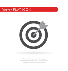 Darts target aim icon flat pictogram for vector