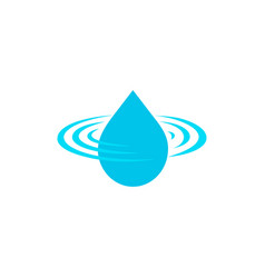 Drop logo clean water sign blue droplet vector