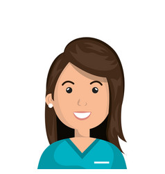 Female paramedic avatar character icon vector