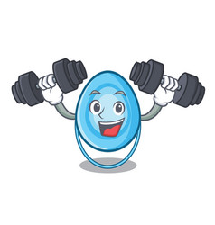 fitness oxygen mask character cartoon vector image