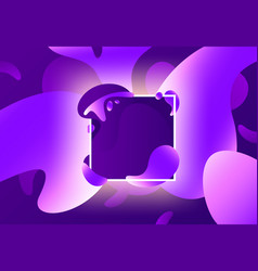 fluid shape frame colorful liquid purple shapes vector image