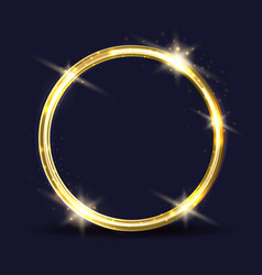 Golden ring icon vector