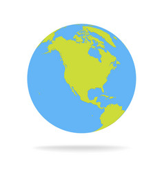 Green And Blue Cartoon World Map Globe Royalty Free Vector - Green and blue world map