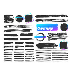grunge brush strokes watercolor paintbrush stroke vector image