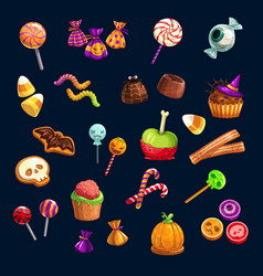 halloween trick or treat candy sweets vector image
