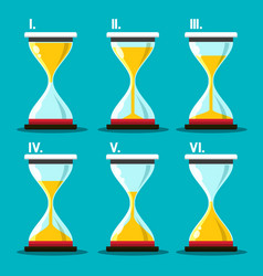 Hourglass icon sand clocks set sandglass symbol vector