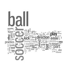 How to play soccer vector