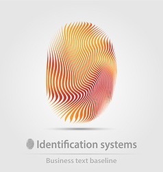 Identification systems business icon vector image