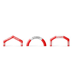 Inflatable arches start archways for races event vector