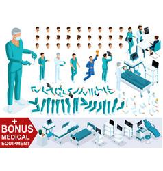 isometrics create your character doctor vector image