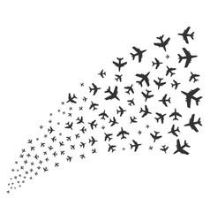 Jet plane source stream vector