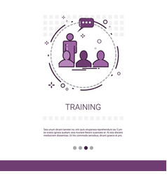 Learning training courses education web banner vector