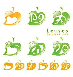 leaves symbol set vector image