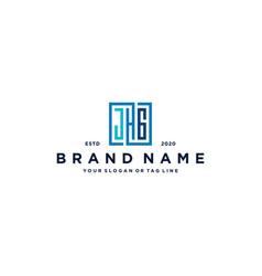 Letter jhg square logo design vector