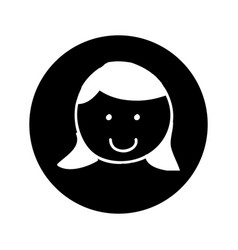 Little girl character icon vector