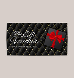 luxury members gift card template for your vector image