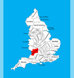 Map gloucestershire in south west england uk vector