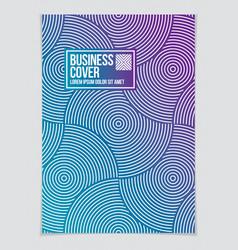 minimalistic brochure design geometric pattern vector image
