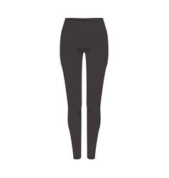 pencil pants fashion style item vector image