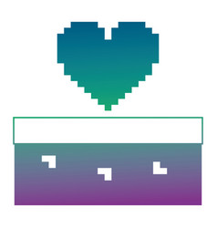 pixelated heart love life game arcade vector image